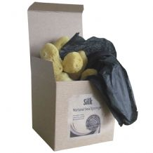 Natural silk sea sponges
